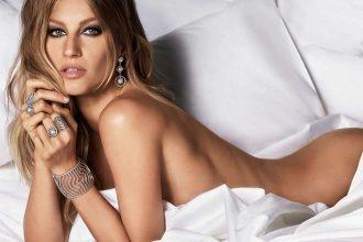 Brazilian model Gisele Bundchen naked for Vivara jewelry brand new campaign