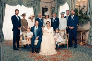 Официальные фото с крестин принца Луи